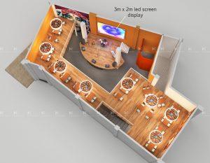 3D Plan Concept design of a club