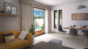 Living interior 3D visualization