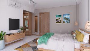 3D bedroom interior visualization
