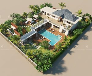 Luxury villa exterior
