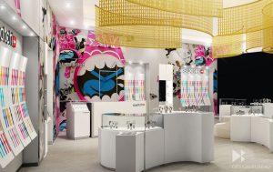 Shop interior 3D visualization