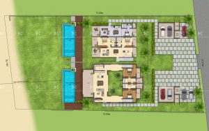 2D plan of villas