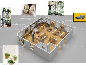3D Plan office canteen renovation concept