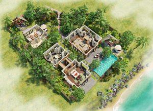 3D Plan of hotel luxury villa