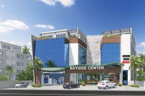 Commercial center exterior view
