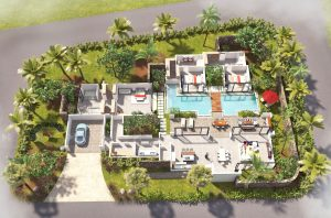 3D Plan of luxury villa