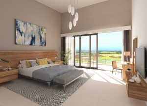 Luxury apartment bedroom interior