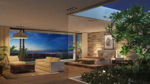 Luxury villa interior 3D visualization