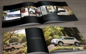 Brochure design for Toyota Mauritius