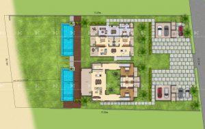 2D plan of villas
