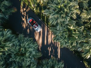 Drone automotive photography